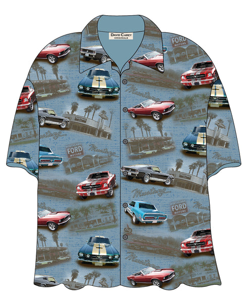Ford Denim Mustang Camp Shirt