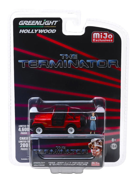 The Terminator 1983 Jeep CJ-7 Renegade Red w/ Sarah Connor Figure