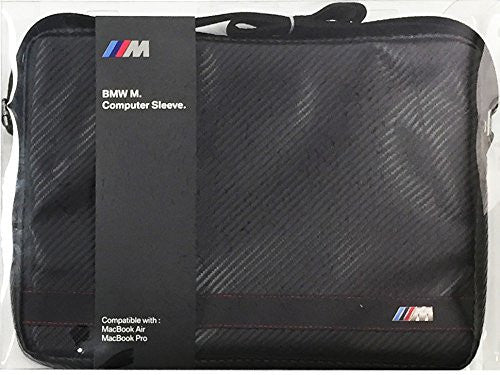BMW Carbon Effect Leather Black Stripe Computer Sleeve