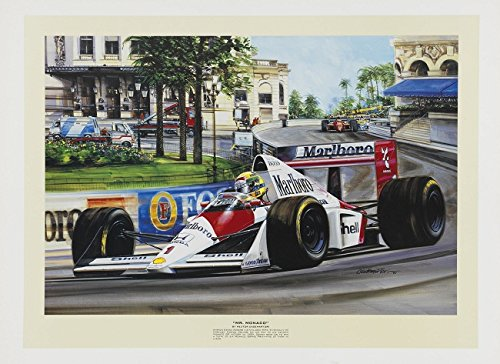 "Ayrton Senna ""Mr. Monaco"" F1 Racing Print by Hector Cademartori"