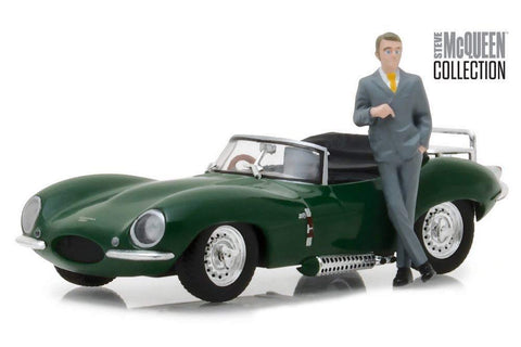 1956 Jaguar XKSS with Steve McQueen Figure