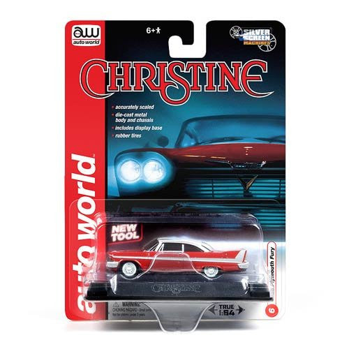 Stephen King's Christine 1958 Plymouth Fury Silver Screen Machines 1:64 Scale