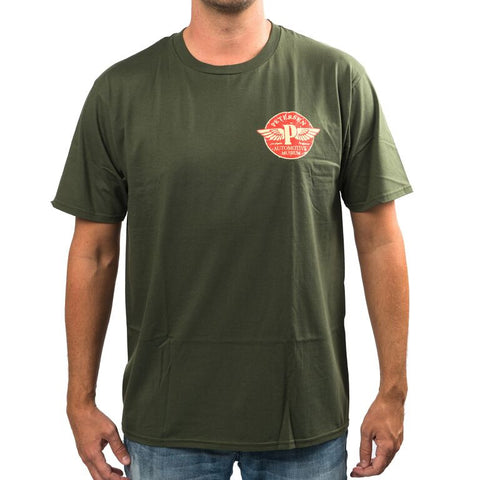 "Petersen Flying ""P"" Green Tee Shirt"
