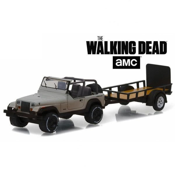 Greenlight Walking Dead Jeep and Trailer 1:64 Scale