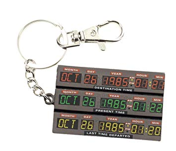 Back To The Future Keychain - Time Control