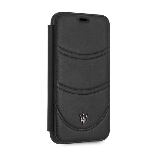 Maserati iPhone XR Book Style Cell Phone Case Genuine Leather