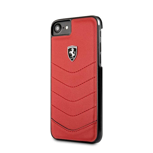 iPhone 8 FERRARI - HERITAGE Collection- Genuine leather Quilted Hard Case