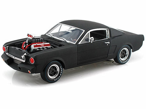 Shelby Collection Matte Black Shelby 1965 GT350R 1:18 Scale