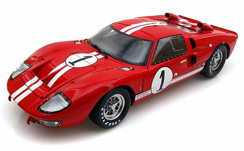 1966 Ford GT-40 MK 2 Red #1 1:18 Scale
