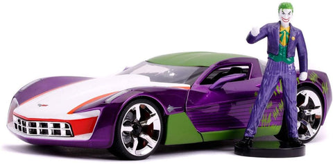 Jada The Joker & 2009 Chevrolet Corvette Stingray 1:24 Scale