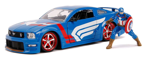 Jada Marvel's Captain America & '06 Ford Mustang GT 1:24 Scale