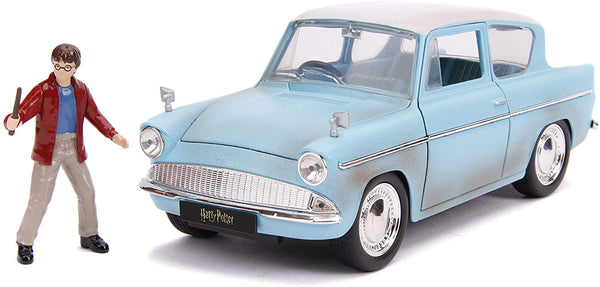 1959 Ford Anglia with Harry Potter Figure 1:24 Scale