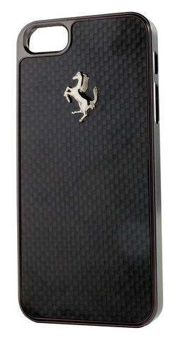 Ferrari Black Frame GT Black Carbon Fiber iPhone Case