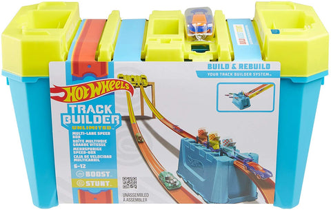 Hot Wheels Track Builder Gravity Box with 4 Lane Fair Start Gate