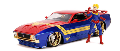 Jada Marvel's Captain Marvel & 1973 Ford Mustang Mach 1 1:24 Scale