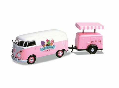 Motormax Volkswagen T1 Delivery Van with Ice Cream Trailer 1:24 Scale