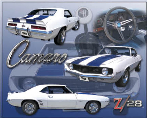 "Camaro 12"" x 15"" Tin Sign"