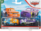 Disney- Pixar Cars-  Speedy Comet and Parker Brakeston 2-Pack Story Race Toy
