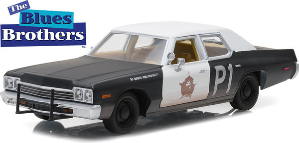 Greenlight 1974 Dodge Monaco Bluesmobile 1:24 Scale