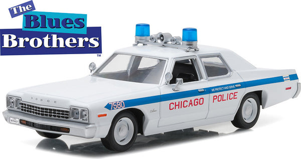 Greenlight 1975 Dodge Monaco Chicago Police Blues Brothers 1:24 Scale
