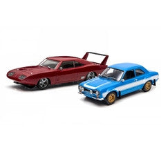 Greenlight The Fast and Furious Dodge Charger Daytona and Ford Escort RS 1:43 Scale