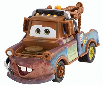 Disney Pixar Cars 2-Pack- Headset Race Team Mater & Race Team Fillmore 1:55 Scale
