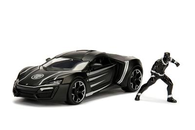 "Black Panther & Lykan Hypersport ""Marvel"" series 1:24 scale"