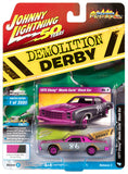 Johnny Lightning- Demolition Derby - '77 Chevy Monte Carlo (Purple/Grey) 1:64 Scale