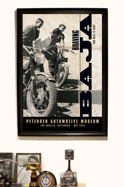 Petersen Poster - Braving Baja Motorcycle