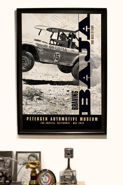 Petersen Museum Braving Baja Parnelli Jones Exibit Poster