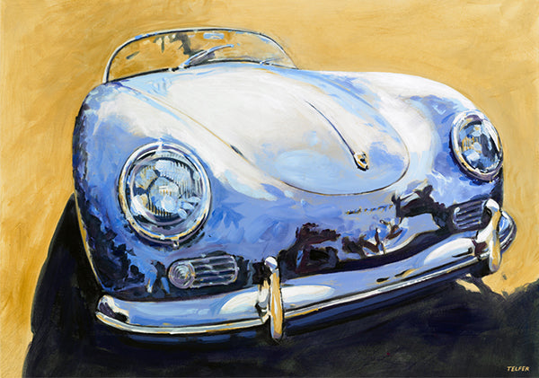 Blue Porsche Speedster