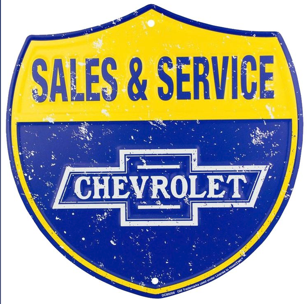 Chevy Service Shield Sign