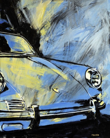 BLUE YELLOW EARLY 911 ORIGINAL PAINTING