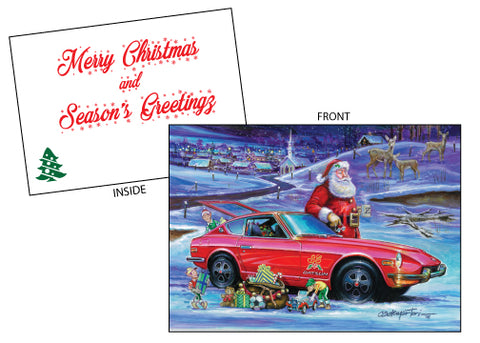 Hector Cademartori Datsun X-Mas Card Set of 10