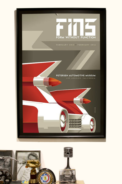 Petersen Museum Fins Exhibit Poster