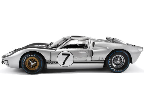 1966 Ford GT-40 MK 2 Silver #7 1:18 Scale