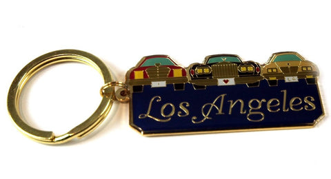 Los Angeles 3 Cars & Grill Keychain