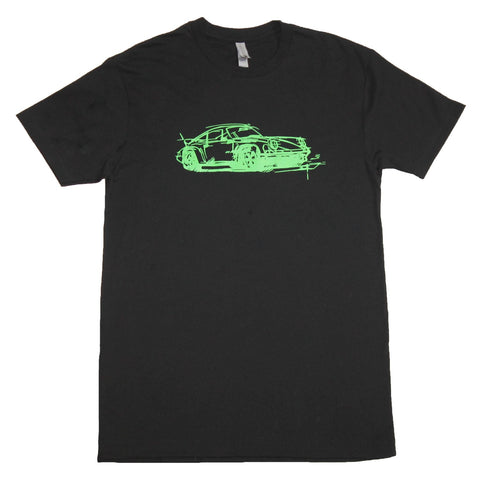 Porsche 911 Carrera RS 2.7 sports car T-Shirt Black
