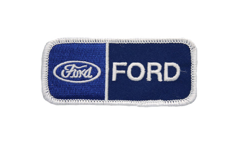 FORD DOUBLE EMBROIDERED LOGO PATCH WITH SCRIPT AND BLUE OVAL