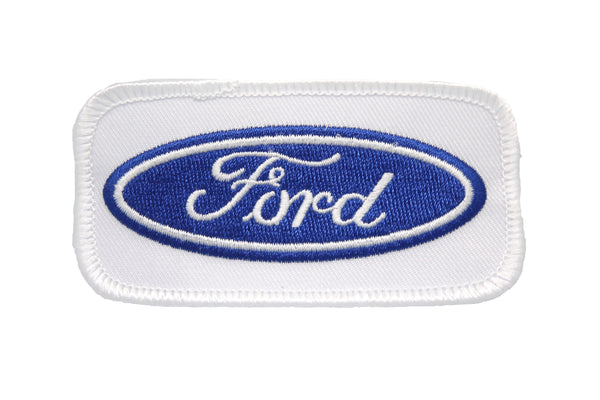 FORD EMBROIDERED BLUE OVAL LOGO PATCH