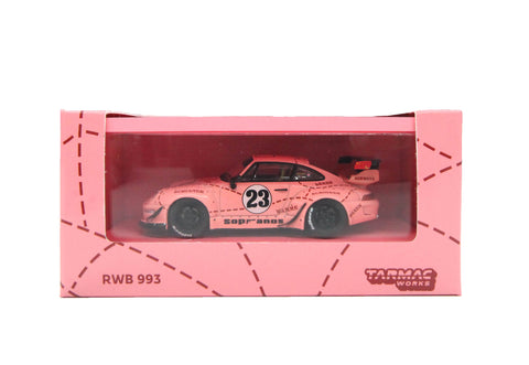 Tarmac Works 1:64 Porsche 993 RWB Sopranos #23 (Pink) with Container