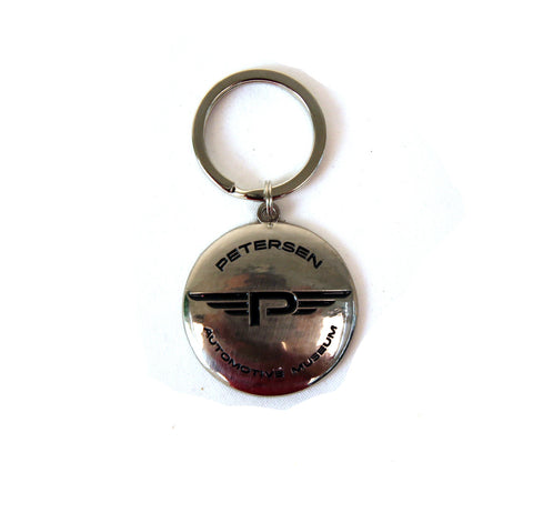 "Petersen Round Modern Flying ""P"" Key Chain"