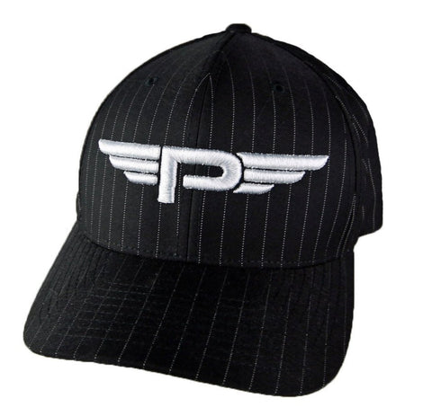 "Petersen Museum Flying ""P"" Logo Black Pinstripe Hat"