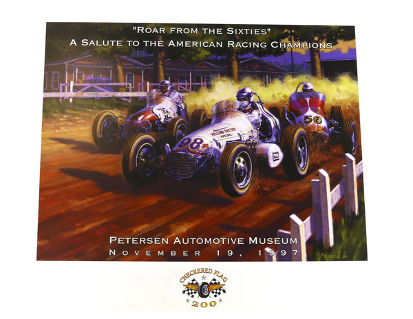 Petersen Museum Checkered Flag 200 Poster