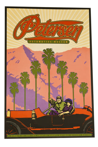 Petersen Poster - Palm Trees Black Light Style