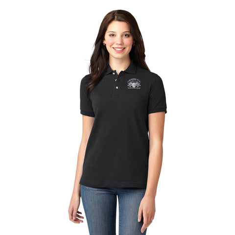 Checkered Flag Black Women's Polo - CF200 Members Exclusive