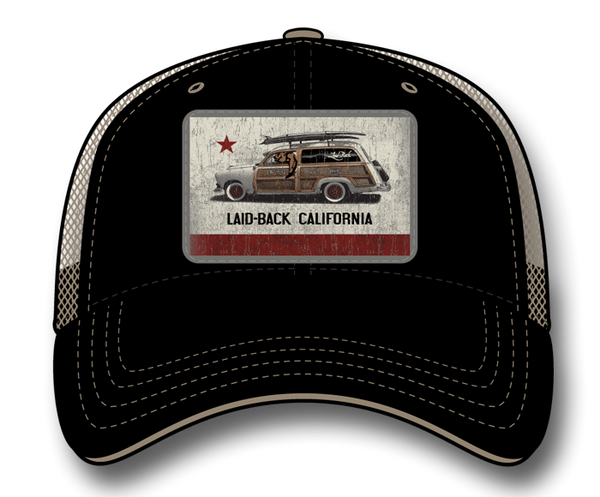 Laid Back - Cali Woodie Flag Softee Trucker Hat