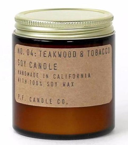 No. 04: Teakwood & Tobacco by P.F. Candle Co.