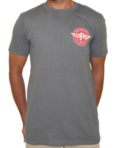 "Petersen Tee - Flying ""P"" in Charcoal"