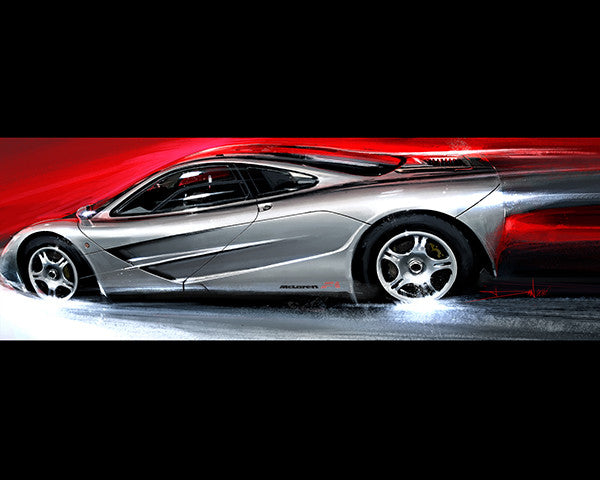 Mclaren F1 20 x 16 Limited Edition Art by Daniel Jimenez